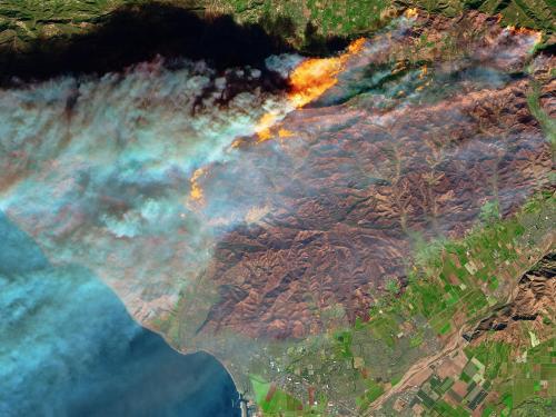 December 2017 Thomas Fire in Ojai