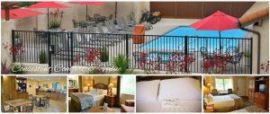 collage of photos of Casa Ojai Inn