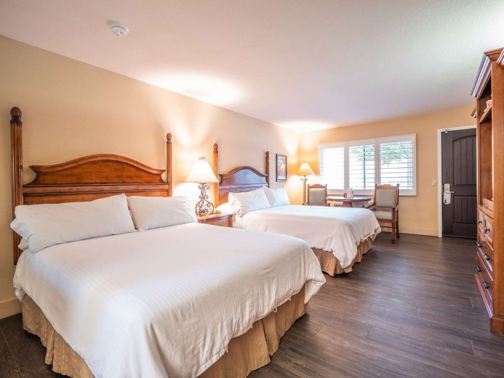 EcoRooms with Two Queen Beds and Patio at the Casa Ojai Inn