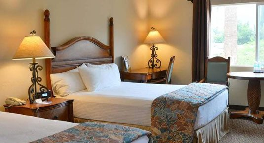 Ojai lodging - EcoRooms with Two Queen Beds